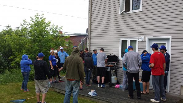 The team worked up an appetite so a BBQ was in order